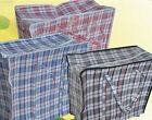 Large Plastic Zipper Bag Woven Laundry Groceries Luggage Bags Storage Bags