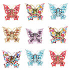6 Color Fashion Crystal Rhinestone Graceful Flying Butterfly Party Stretchy Ring