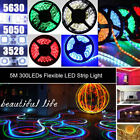 IP65 5M 300 LEDs SMD 3528 5050 5630 Flexible Strip Lighting Waterproof Bar Car