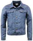 NEW MENS RETRO SLIM FAUX SUEDE WESTERN  JACKET 70S Seventies VINTAGE BLUE MC182