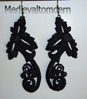 NEW~~ Hand Made LONG Your Color Match Venise Lace Scroll Earrings NEW 4""