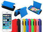 Hybrid Hard Case with ID Credit Card Slot Stand for iPhone 5S 5