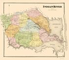 Old City Map - Indian River Delaware Landowner - Beers 1868 - 23 x 26.15