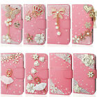3D Pink Bling Diamond Wallet Leather Phone Case Cover For Nokia Lumia 630 635