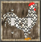 Switch Plates And Outlets - Black And White Rooster - Country Home Decor