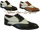 Vintage1920's 30's 40's men's Two Tone Wing tip Spectator Jazz Gatsby Brogues