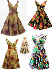 "New Ladies Vtg 1950's Classic ""Doris"" Floral Full Skirted Summer Swing Tea Dress"