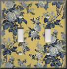 Switch Plates And Outlets - Blue And Yellow Rose Toile - Floral Home Decor