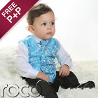 Boys Turquoise Blue 4pc Wedding Pageboy Communion Formal Paisley Waistcoat Suit