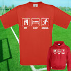 EAT, SLEEP, ARSENAL FOOTBALL T SHIRT / HOODIE - KIDS ADULTS  TOP