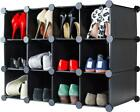 Andrew James Shoe Rack Storage 2  3  4 Tier 12 Compartment Large Metal Frame