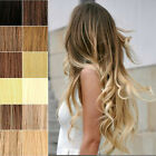 "US Stock 15""18""20""22""24""26""28"" Clip In Remy Human Hair Extensions 70g-120g 100%"