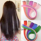 1PCS Clip In Highlight Color Single Piece Hair Extensions Streak Strip for Lady