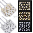 24 SHEET  High Quality 3D Nail Art Stickers Decals Decorations Tool Stamping