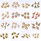 5PCS Wholesale Mixed Gold Christmas Gifts Charms For DIY Pendant/Bracelet Xmas
