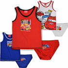 Boys Disney Cars Pants Vest Top Set Kids Briefs Underpants 2pc New Age 2-8 Years