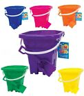 SQUARE KIDS SAND CASTLE BUCKET & SPADE SET BEACH GARDEN SANDPIT SUMMER TOY