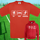EAT, SLEEP, LIVERPOOL FOOTBALL T SHIRT / HOODIE - KIDS ADULTS  TOP