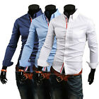 New Jeansian Mens Designed Casual Dress Shirts Tops Slim Lines Stylish