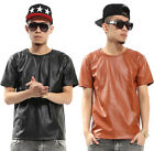 weilin Unisex Luxury Hipster Faux Leather Premium Hip Hop T shirts Y0544