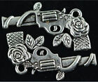 lots 50pcs tibet silver exquisite charm rose flower gun jewelry pendant 31mm