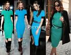 Womens Optical Illusion slimming Stretch bodycon Business Party Pencil Dress Hot
