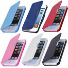 For Apple iPhone 4 4S New Magnetic Flip Leather Hard Skin Pouch Wallet Case Skin