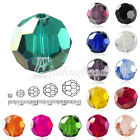 72Pcs 10mm Fat Round Faceted Glass Rondelle DIY Crystal Beads For Swarovski