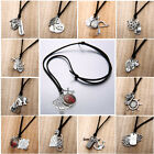 Adjustable Handmade Leather Rope NEW Multielement Crystal Jewelry Necklace