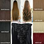 8 Piece Full Head Long Straight Curly Clip In Hair Extensions Real As Human mm