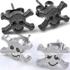 Pair Pirate Skull Stainless Steel Earring Studs Mens Cool Jewelry Punk Xmas Gift