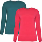 Femmes Pull Femmes Sweat Ras Cou Manches Longues Neuf Plus Taille 6-24