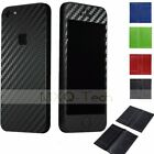 2x Carbon Fiber Full Body Slim Protector Sticker Skin Cover For iPhone 5 5th 5s