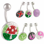 Ferido belly bars navel rings button piercing jewellery 9HIU-STYLES TO SELECT