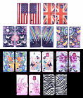 For LG Phones Colored Painting Sweet PU Leather Cash Wallet Cases Covers Stand