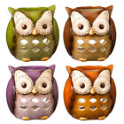 469451 Owl Tea-light Candle Holder Crimson Hollow Collection Decoration