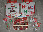 Christmas Baby Bib Bottles Snowman Santa Reindeer Candy Cane Holiday NEW!