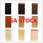 USA STOCK! 20inch Indian Remy Human One Piece Volumizer Clip In Extensions 60g