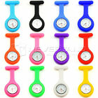 Silicone Nurse Quartz Watch Brooch Fob Tunic Hanging Pocket Watches With Pin