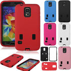 Combo Hybrid Shockproof Hard PC +Silicone Case Cover For Samsung Galaxy S5 i9600