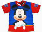 Mickey Mouse Boy Polyester Top T-Shirt #5778 Blue,Red Size 4-10 age 3-10