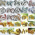 10x Silver/Gold Plated Coin Rhinestone Crystal Loose Spacer Finding Bead Jewelry