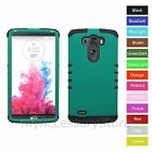 For LG G3 Turquoise Hard Shell & Rubber Hybrid Rugged Impact Phone Case Cover