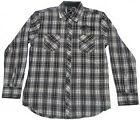 Jack Daniels Men's Daniel's Logo Embroidered And White Plaid Western Shirt
