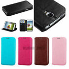 Flip Wallet Style Case Leather Card ID Holder Foldable Stand Slim Cover +Film