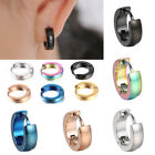 Men's Huggie Hoop Ear Stretcher Solid PC Stainless Steel CrystalStud Earrings