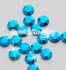 Aquamarine Blue (Any Size) hot fix Iron On Faceted rhinestuds 6ss 10ss 16ss 20ss