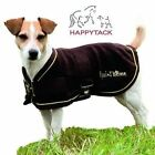 New Equitheme Polar Fleece Dog Coat Black Brown Beige