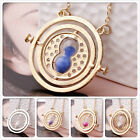 Harry potter time turner hermione granger necklace spins rotating hourglass
