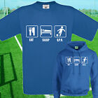 EAT, SLEEP, QPR FOOTBALL T SHIRT / HOODIE - KIDS ADULTS  TOP